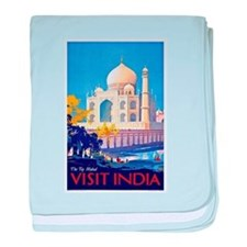 India Travel Poster 13 baby blanket