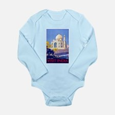 India Travel Poster 13 Long Sleeve Infant Bodysuit