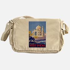 India Travel Poster 13 Messenger Bag