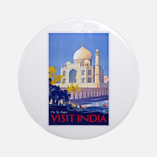 India Travel Poster 13 Ornament (Round)