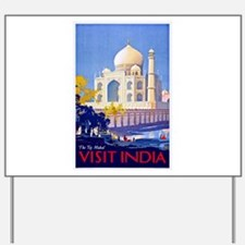 India Travel Poster 13 Yard Sign