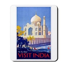 India Travel Poster 13 Mousepad
