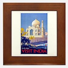 India Travel Poster 13 Framed Tile