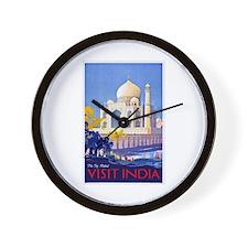 India Travel Poster 13 Wall Clock