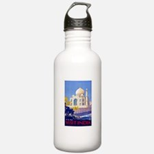 India Travel Poster 13 Water Bottle