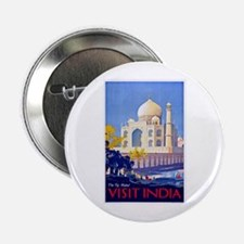 """India Travel Poster 13 2.25"""" Button"""