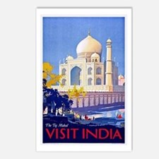 India Travel Poster 13 Postcards (Package of 8)