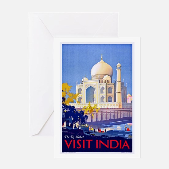 India Travel Poster 13 Greeting Card