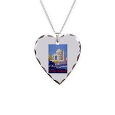 India Travel Poster 13 Necklace