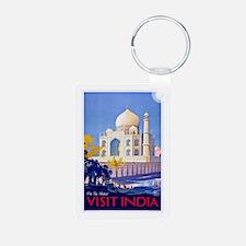 India Travel Poster 13 Aluminum Photo Keychain