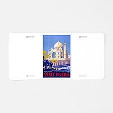 India Travel Poster 13 Aluminum License Plate