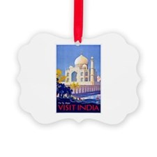 India Travel Poster 13 Picture Ornament