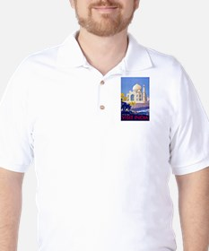 India Travel Poster 13 Golf Shirt