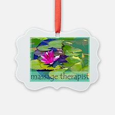 Massage Therapist / Waterlily Ornament