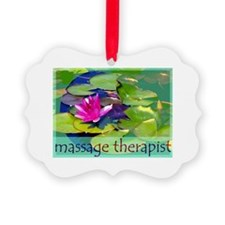 Massage Therapist / Waterlily Picture Ornament