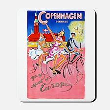 Copenhagen Travel Poster 1 Mousepad