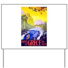 Greece Travel Poster 1 Yard Sign