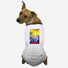 Greece Travel Poster 1 Dog T-Shirt