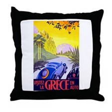 Greece Travel Poster 1 Throw Pillow