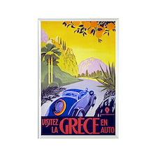 Greece Travel Poster 1 Rectangle Magnet