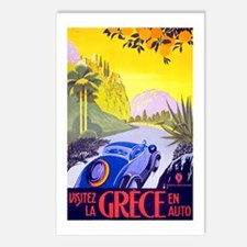 Greece Travel Poster 1 Postcards (Package of 8)