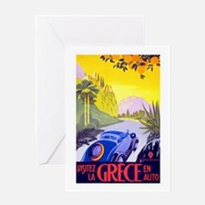 Greece Travel Poster 1 Greeting Card