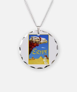 Egypt Travel Poster 3 Necklace