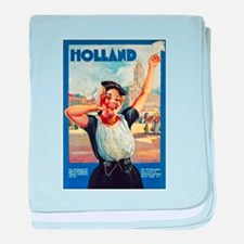 Holland Travel Poster 2 baby blanket