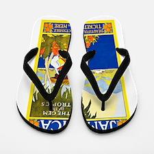 Jamaica Travel Poster 2 Flip Flops