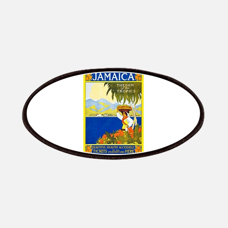 Jamaica Travel Poster 2 Patches