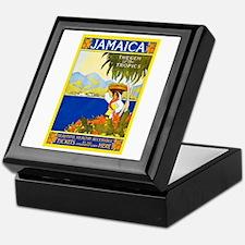 Jamaica Travel Poster 2 Keepsake Box