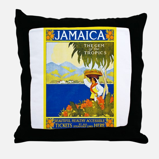 Jamaica Travel Poster 2 Throw Pillow