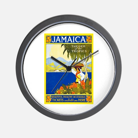Jamaica Travel Poster 2 Wall Clock