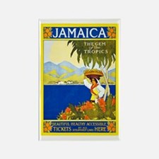 Jamaica Travel Poster 2 Rectangle Magnet