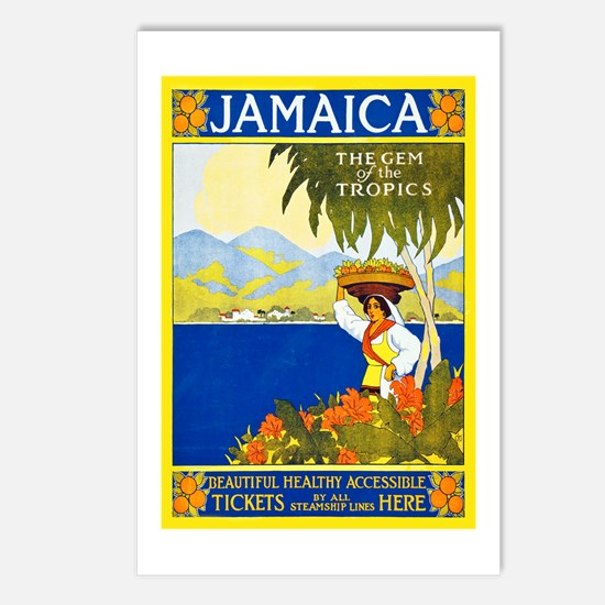 Jamaica Travel Poster 2 Postcards (Package of 8)