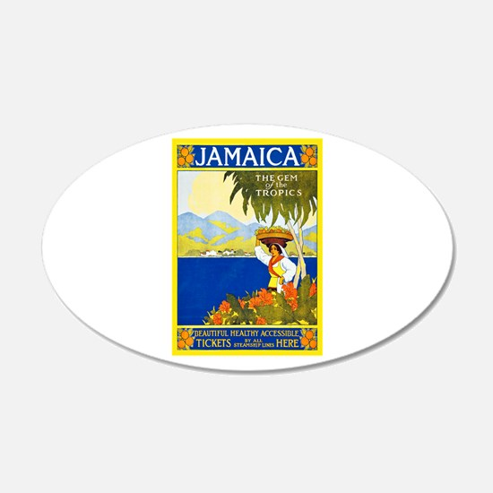 Jamaica Travel Poster 2 Decal Wall Sticker