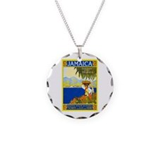 Jamaica Travel Poster 2 Necklace