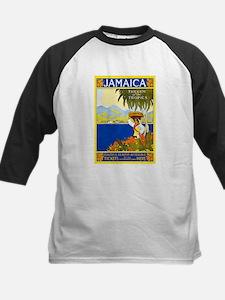 Jamaica Travel Poster 2 Kids Baseball Jersey