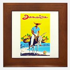Jamaica Travel Poster 1 Framed Tile