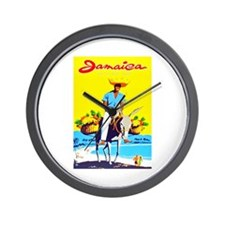 Jamaica Travel Poster 1 Wall Clock