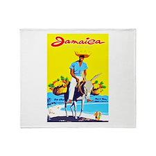 Jamaica Travel Poster 1 Throw Blanket
