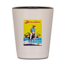 Jamaica Travel Poster 1 Shot Glass