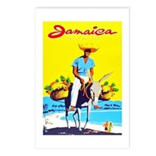 Jamaica Travel Poster 1 Postcards (Package of 8)