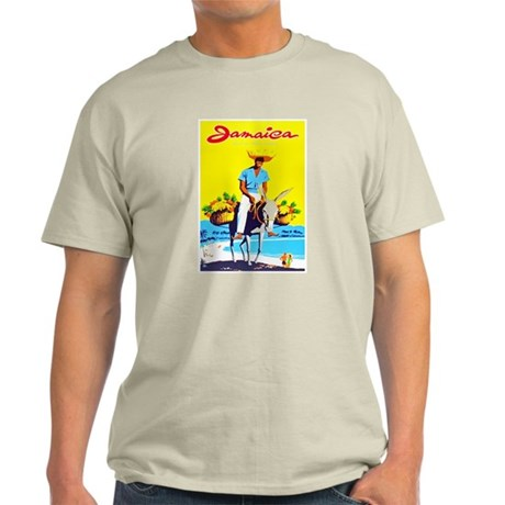 Jamaica Travel Poster 1 Light T-Shirt