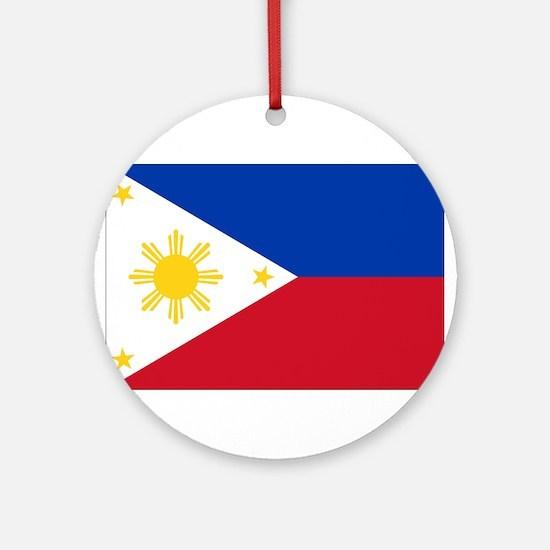 Philippine flag Ornament (Round)