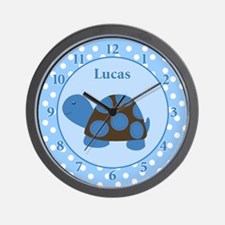 Blue Mod Turtle Wall Clock - Lucas