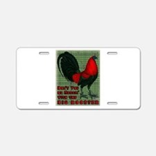Big Red Rooster2 Aluminum License Plate