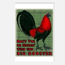 Big Red Rooster2 Postcards (Package of 8)