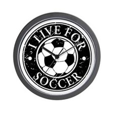 I Live for Soccer Wall Clock