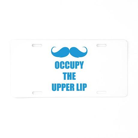 Occupy the upper lip Aluminum License Plate